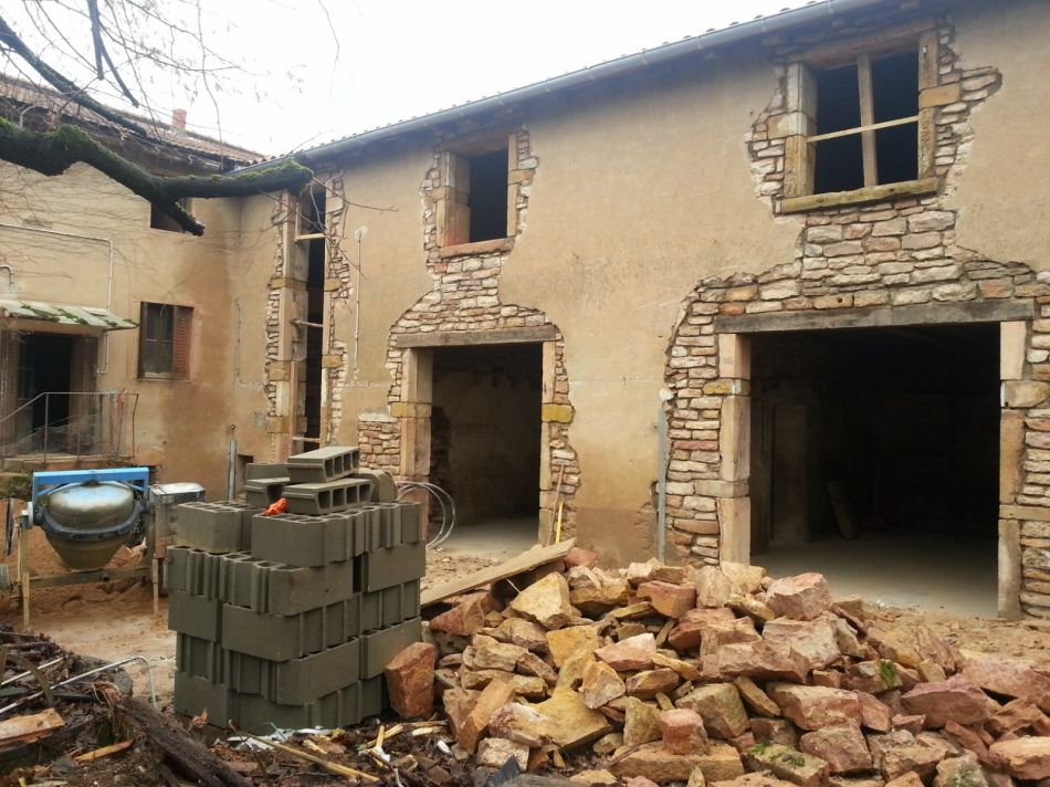 cration douvertures pour fentre et porte fentres dans maison ancienne